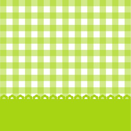 chequered ribbon: Colorful card for design and greetings. Vector. Illustration