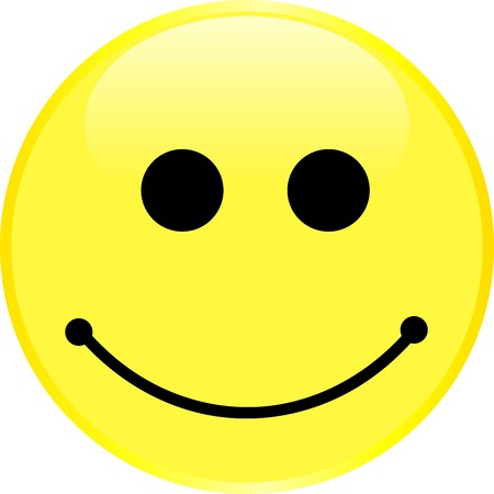 Smiley face with a positive emotion. Vector. 向量圖像