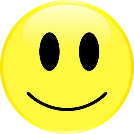 positief: Het gezicht van Smiley met een positieve emotie. Vector.