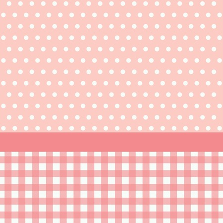 Pink Template frame design for greeting card.