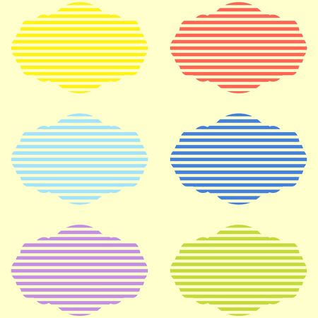 stipes: Set of childrens labels in bright tones Illustration