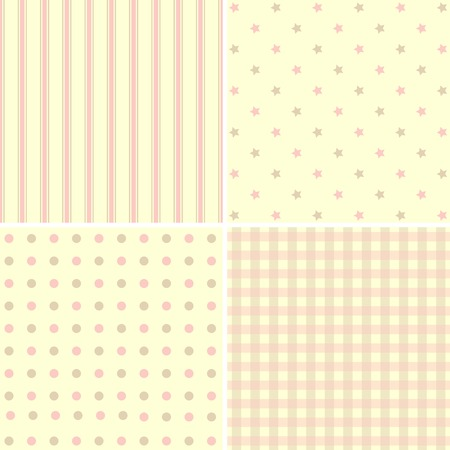 giftwrap: Vector set of 4  background patterns