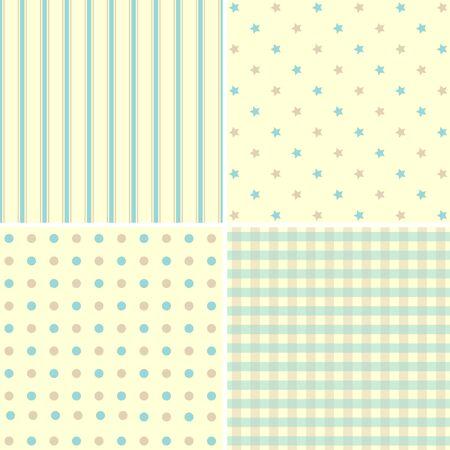 giftwrap: Set of 4  background patterns Illustration