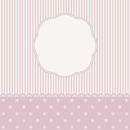 stranded: Template of greeting card or the invitation. Vector illustration