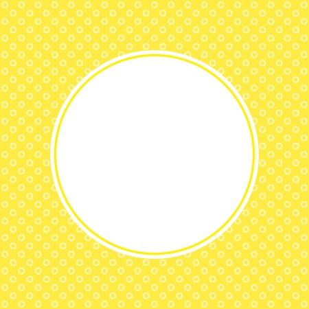 cute text box: Retro Greeting card design. Vector color image.