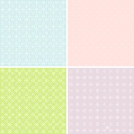 Vector set of 4 pastel background patterns.
