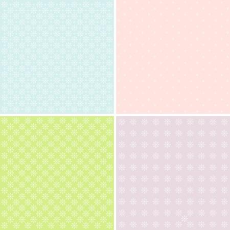 abstrakte muster: Vektor-Satz von 4 Pastellhintergrundmuster.