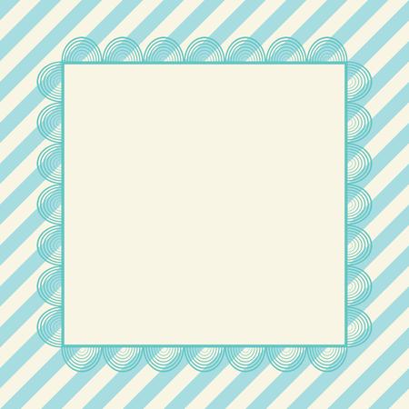 decorative letters: Vintage greeting card, invitation. Vector template for design. Illustration