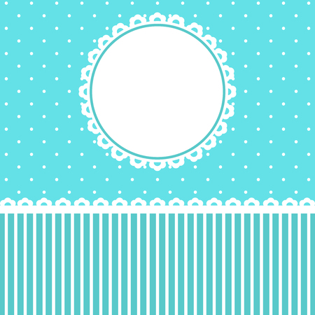 blue floral: Baby Arrival Card with blue floral Frame.