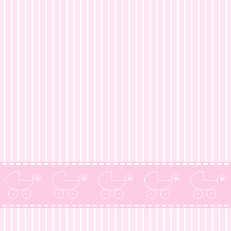 baby girl arrival: Baby announcement card. Baby girl arrival card.