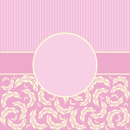 Elegant vector background with  lace borders, greeting card or wedding invitation template Vector