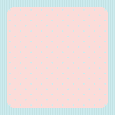 grunge border: Card with frame and polka dot background Stock Photo