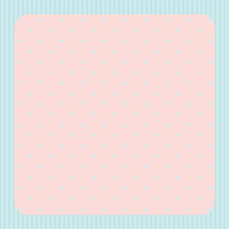 marcos redondos: Tarjeta con el marco y fondo de lunares
