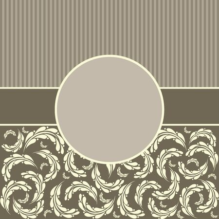 Floral greeting Background. Vector greeting card template