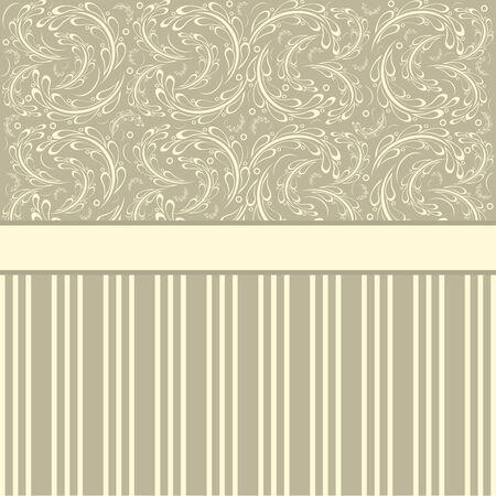 Vintage card design for greeting card, invitation, menu Vector