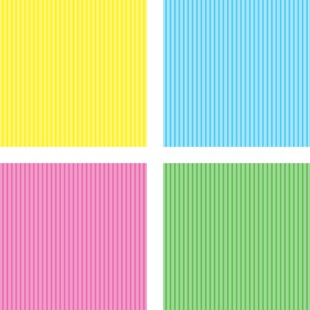 Set of 4 retro striped background patterns photo