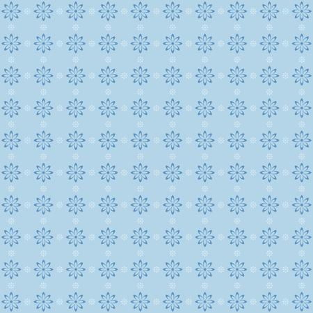 patten: Retro floral patten in blue pastel tones