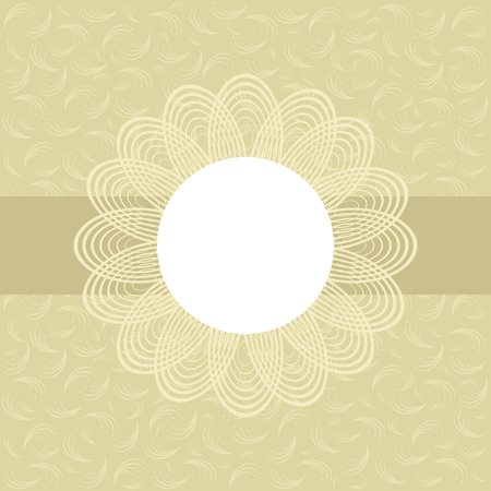 pastel tone: Floral greeting card in pastel tone. Vector image.