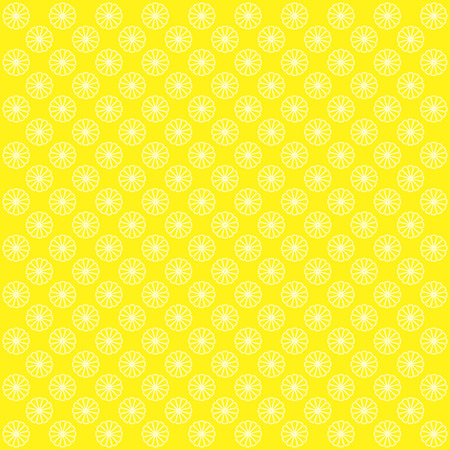 abstract bacground: Yellow abstract bacground with flowers. Vector image. Stock Photo