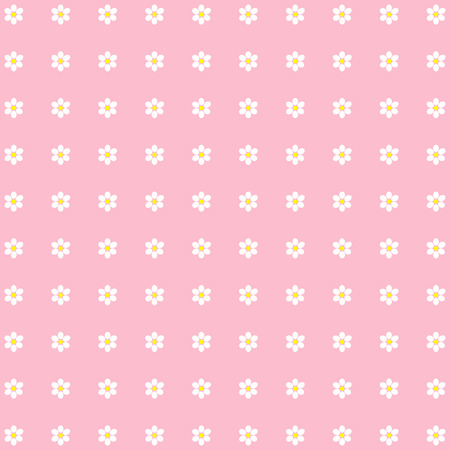 beautiful ditsy floral background. Pink vector image.