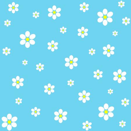 Classic vintage flower pattern on blue background 向量圖像