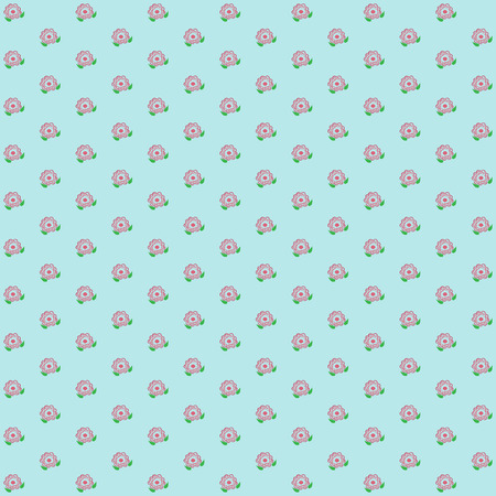classic wallpaper vintage flower pattern on blue background