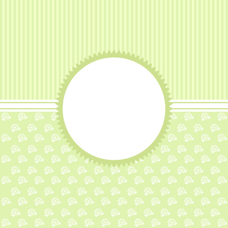 green banner: Invitation card in an vintage-style green. Vector card.