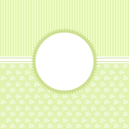 Invitation card in un verde stile vintage. Scheda di vettore. Archivio Fotografico - 45009860