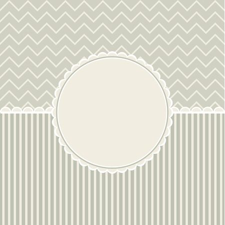 Vintage retro happy birthday card, type font, grunge frame and pattern background . Stock Photo