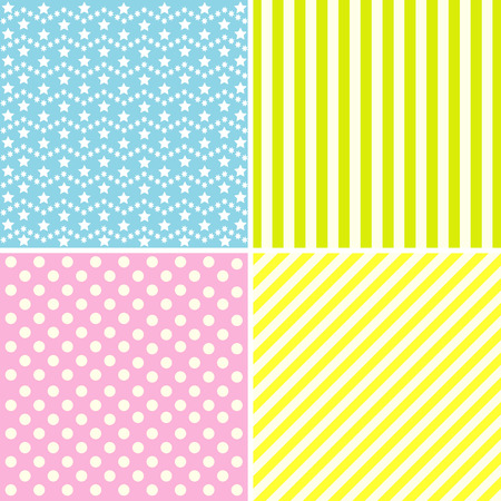 mother s: Set of cute patterns. Collection of backgrounds in delicate colors.