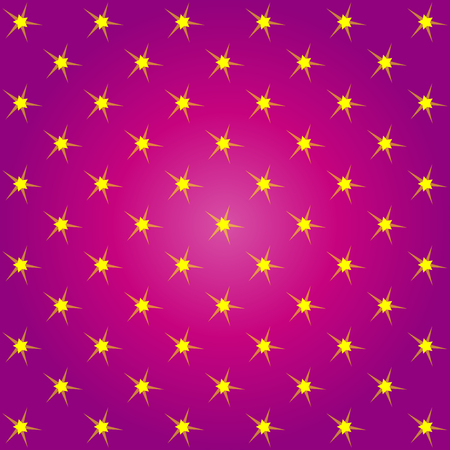 christmas backdrop: Vector red pattern made with yellow stars