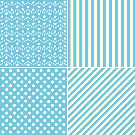 Set Of Cute Patterns Collection Of Backgrounds In Blue Colors Impressive Cute Patterns