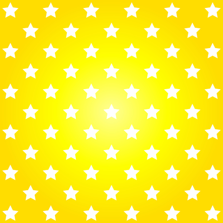 round dot: Bright yellow abstract pattern with stars. Vector image. Illustration