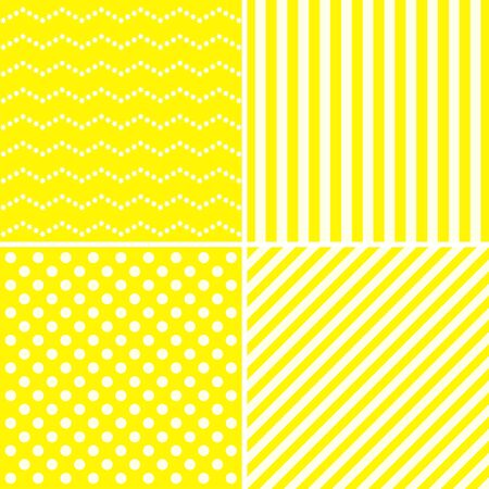 yellow card: Set of sweet patterns in sunny yellow color.