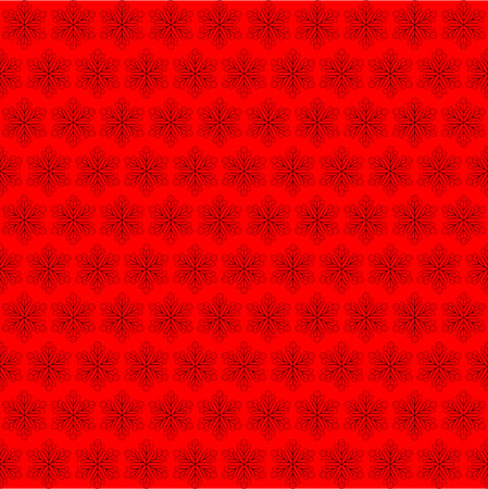 lust: Red background with snowflakes. Abstract vector illustration