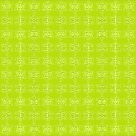 Green  abstract elegant snowflake pattern. Winter image.