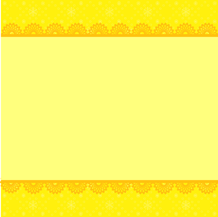 ardboard: Abstract elegant yellow Christmas frame. Vector illustration.