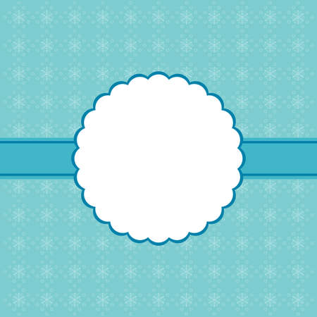 vintage border: Blue Christmas background and snowflakes vector illustration.