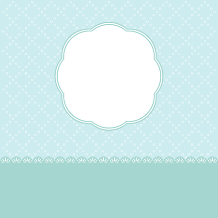 Blue Christmas background and snowflakes vector illustration.