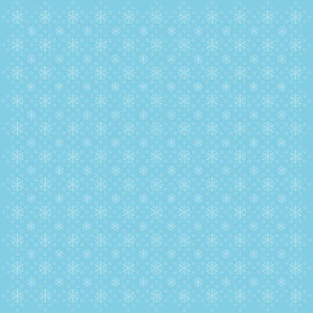 Cute blue background with snowflakes, vector illustration