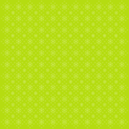 Cute green background with snowflakes, vector illustration