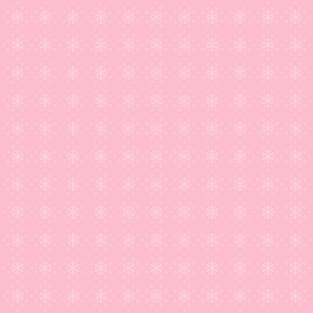 christams: Pink background with snowflakes. Cute winter illustration