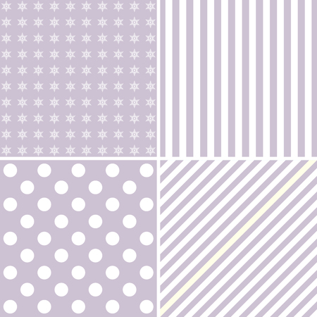 pastel backgrounds: Set of four cute backgrounds in pastel colors ideal for baby shower Illustration