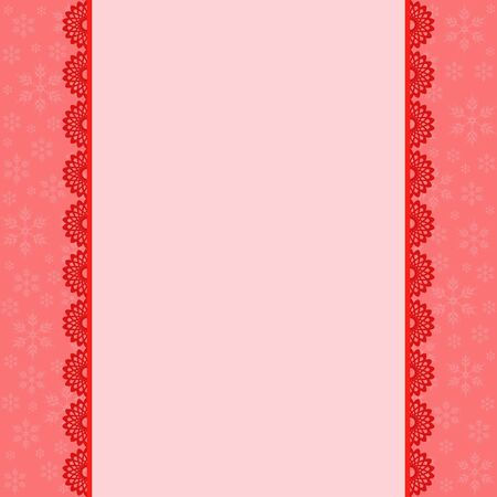 place for text: Red Snowflakes background with place for text