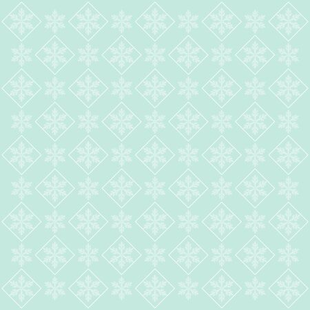 Elegant blue background with snowflakes, vector illustration