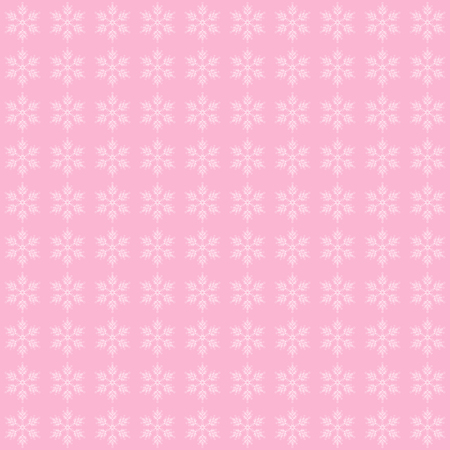 Abstract pink background with snowflakes, vector illustration