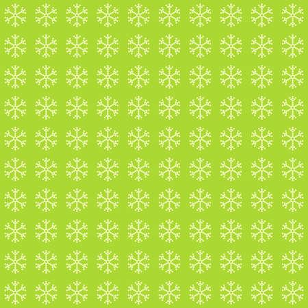 Green snowflake pattern. Elegant abstract cute image