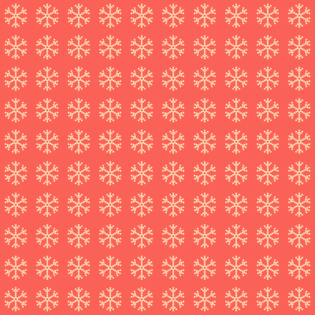 Red snowflake pattern. Elegant abstract cute image