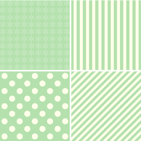 christmas backgrounds: Set of Christmas retro card, pattern and backgrounds