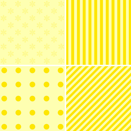 yelow: Set of four Christmas backgrounds. Backgrounds can be used for wallpaper, pattern fills, textile, web page background, surface textures. Vector illustration. Illustration